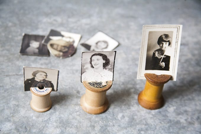 vintage-inspired photo holders