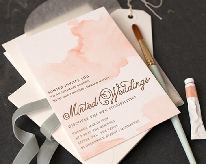 DIY watercolor invitations