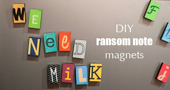 ransom note letter magnets
