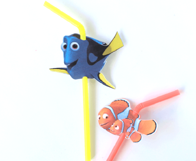 finding Nemo straw toppers