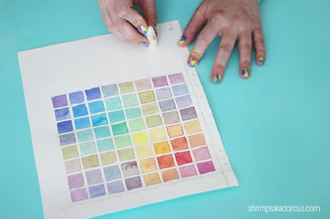 watercolor paint chart