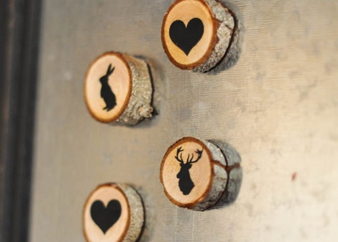 wooden slice magnets