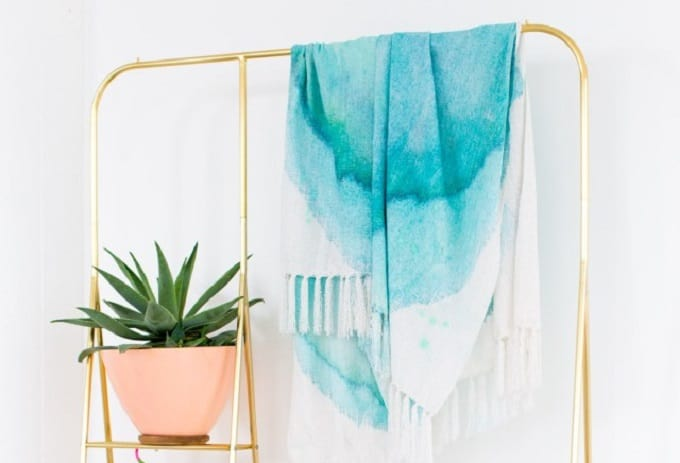 watercolor picnic blanket