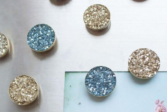 DIY druzy magnets
