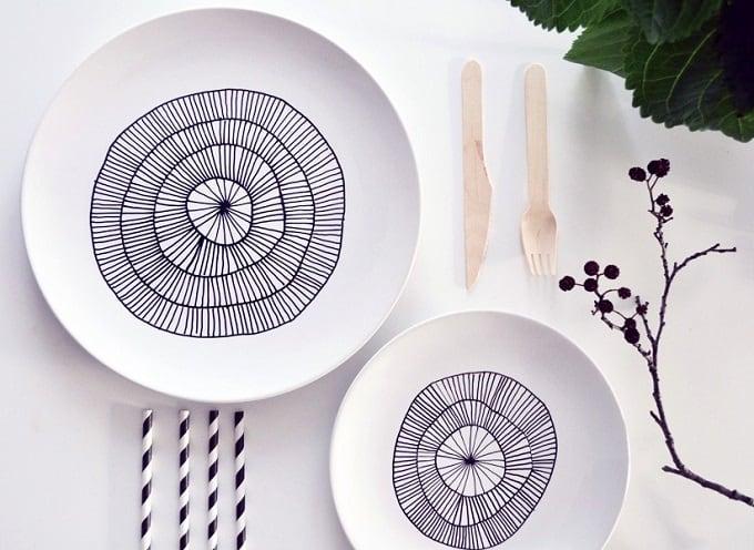 porcelain pen plates