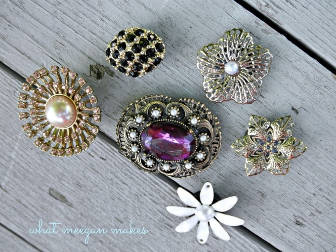 vintage brooche magnets