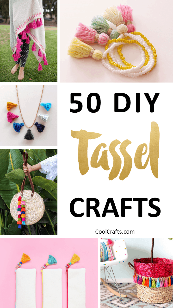 50 Playful DIY Tassel Crafts to Decorate Your Home. | Coolcrafts.com