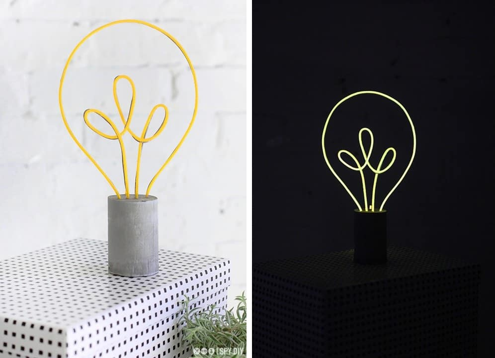 neon lightbulb lamp