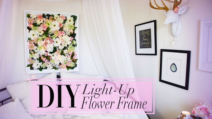 light-up flower frame