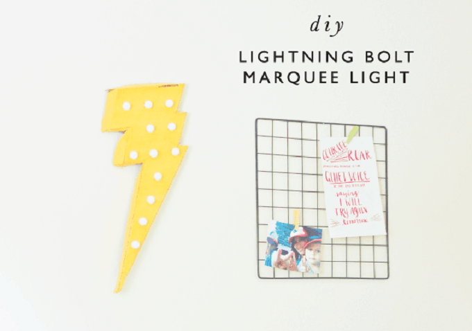 lightning bolt marquee light