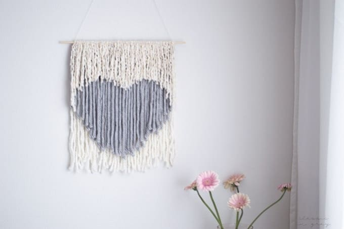 no weave wall hanging for valentines day