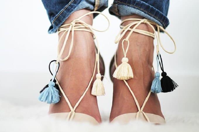 tassel sandal straps