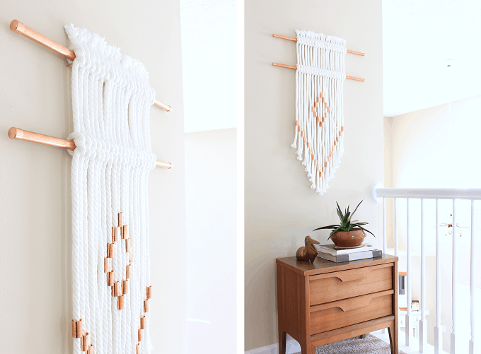 rope copper wall hanging