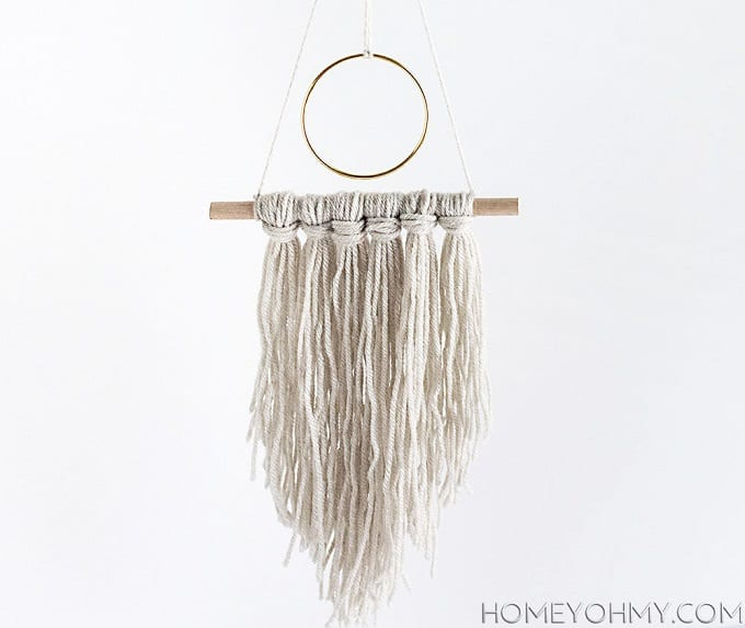modern yarn hanging