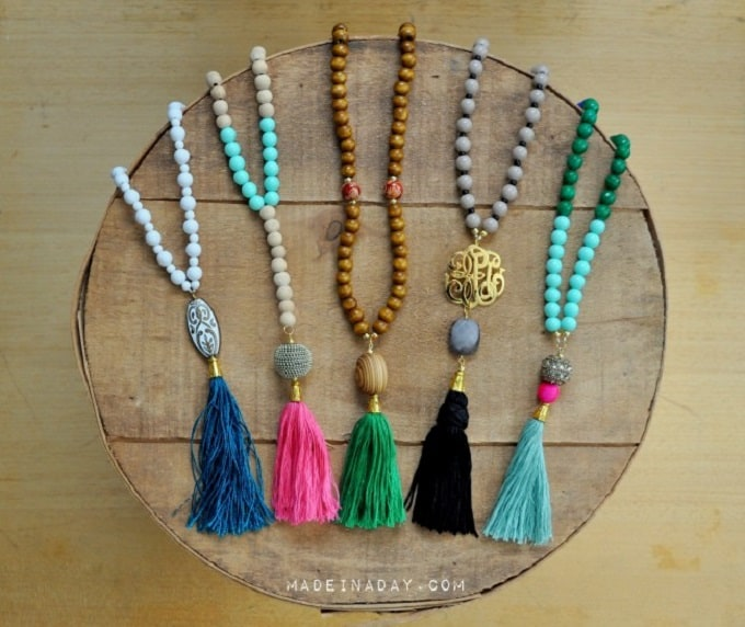 beaded tassel necklaces