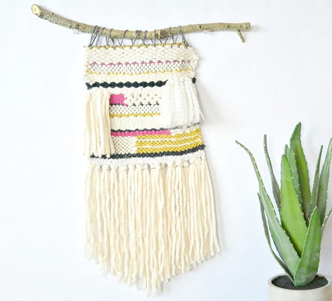 lap loom woven wall hanging