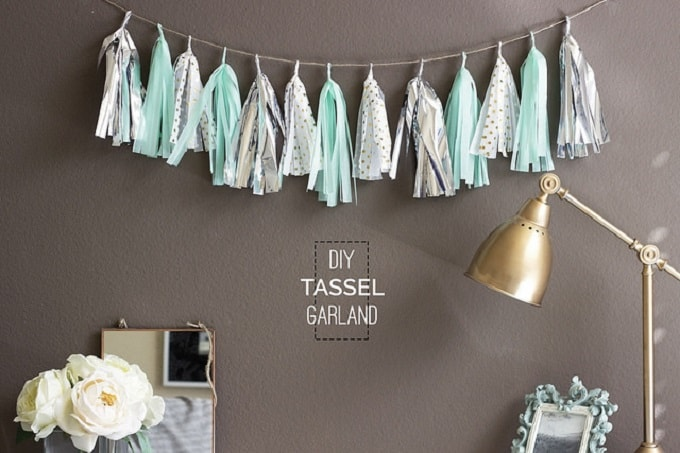 tissue paper tassel garlands