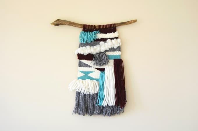 woven yarn wall hanging