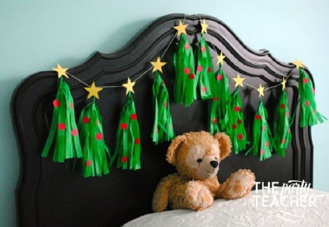 festive tassel garland