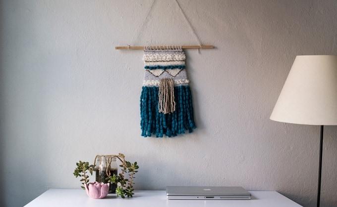 DIY woven hanging