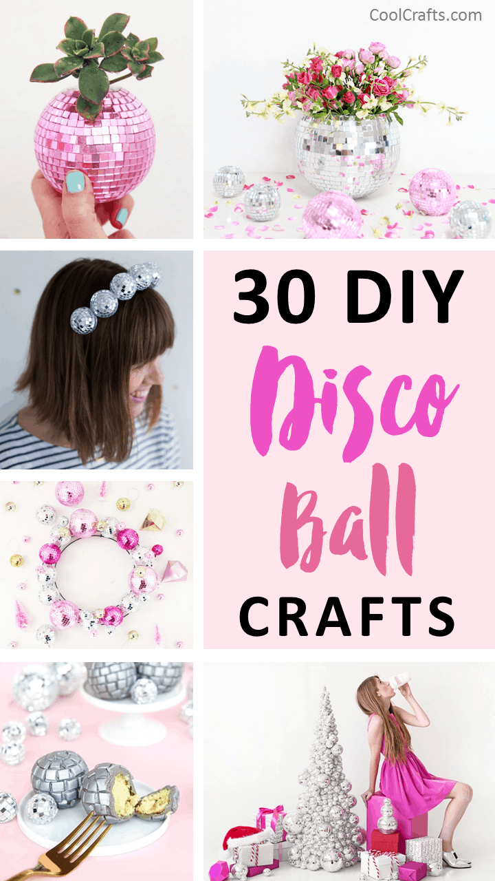 Get The Party Started With These 30 DIY Disco Ball Crafts. | Coolcrafts.com