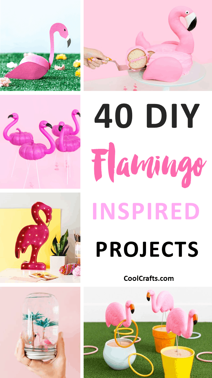 40 Fabulous DIY Flamingo Craft & Decor Ideas. | Coolcrafts.com