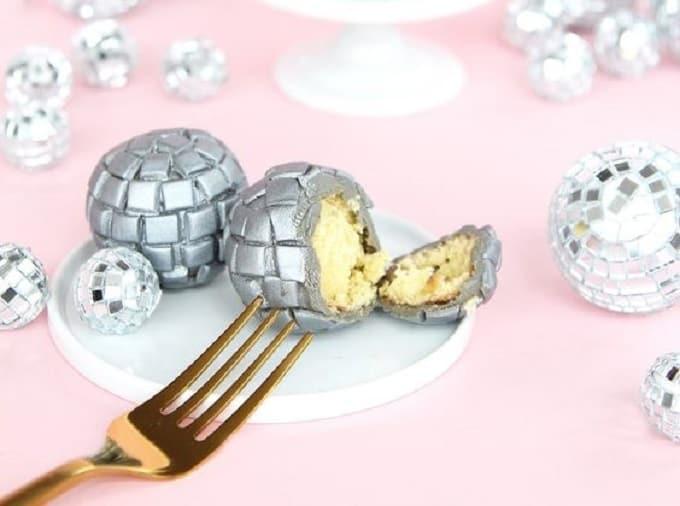DIY disco donut balls