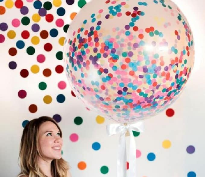 confetti-filled balloon