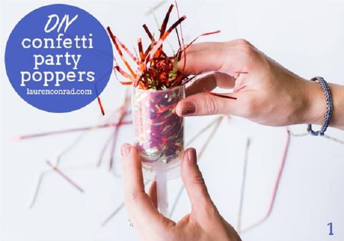 DIY confetti popper