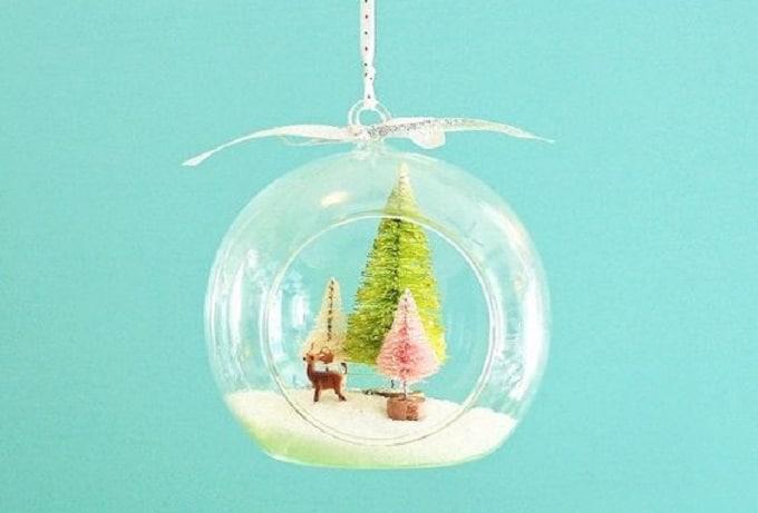 Christmas hanging terrarium