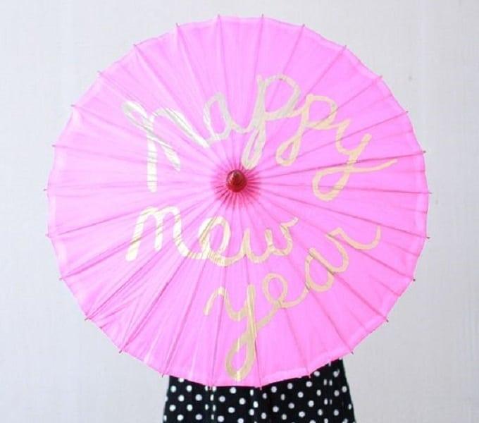 Happy New Year umbrella