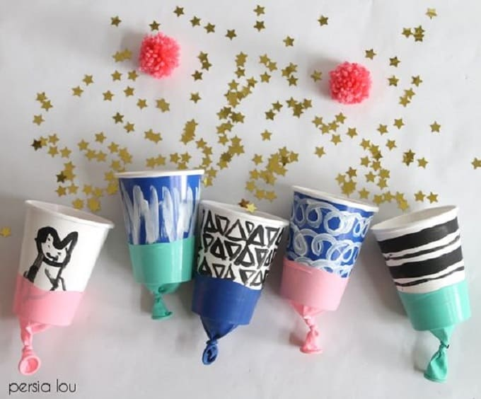 colorful party poppers