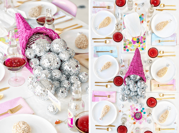 disco ball centerpieces