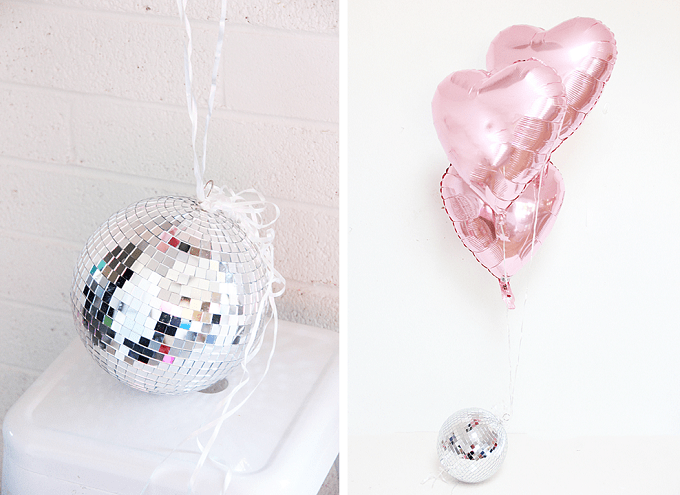 disco ball balloon weights