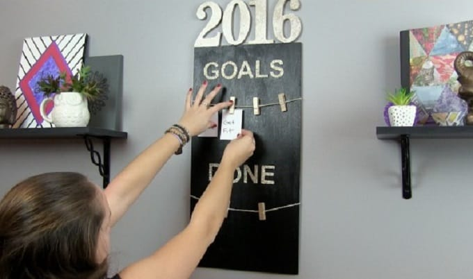 DIY Goals board