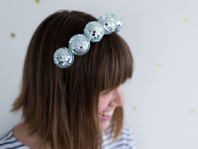 DIY disco ball headband