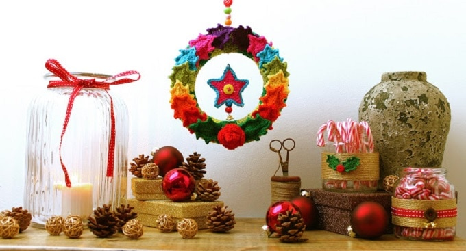 crocheted wreath alternative