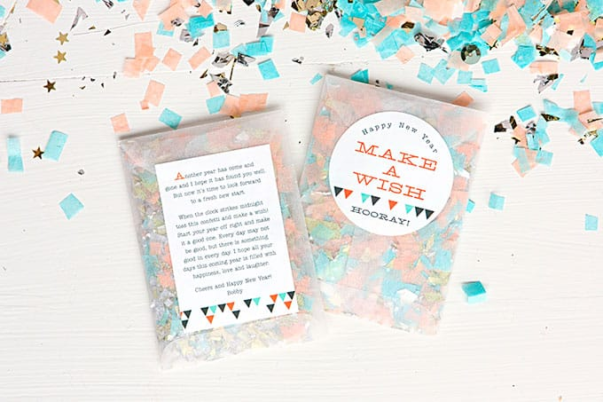 DIY confetti-filled sachets
