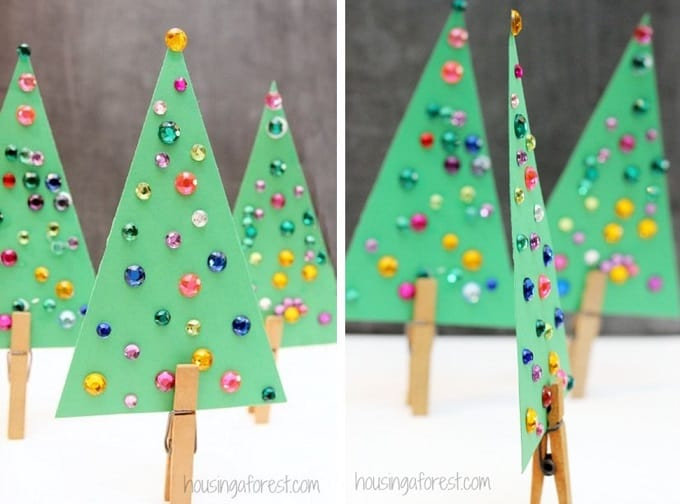 jeweled Christmas tree craft