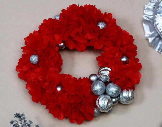 we three wreaths mantel