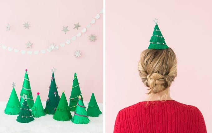 Christmas tree party hats