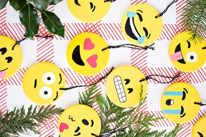 Emoji inspired ornaments
