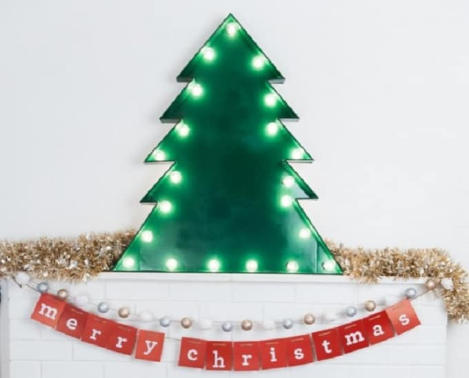 marquee Christmas tree