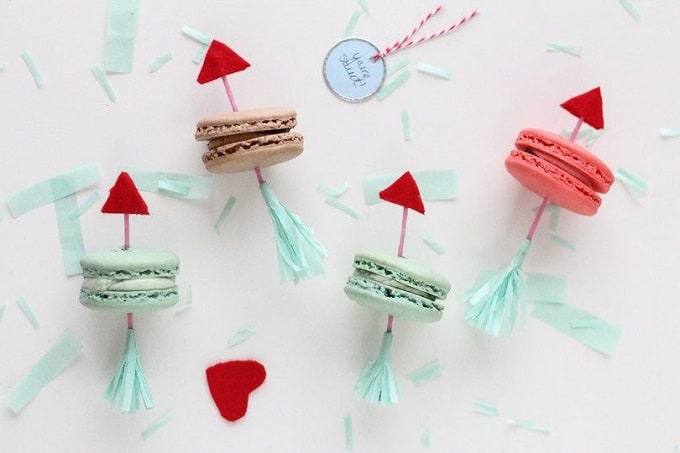 Valentine's Day arrow cookies