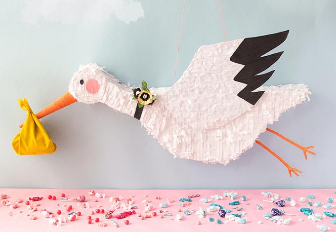 DIY stork piñata