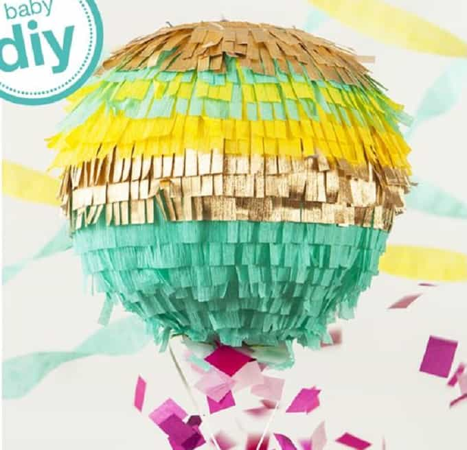 colorful gender reveal piñata