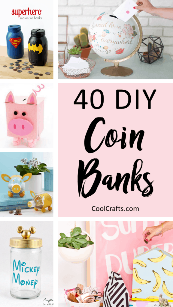 40 Cool DIY Piggy Banks For Kids & Adults