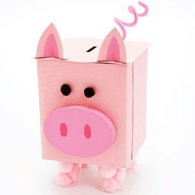 tissue box piggy bank