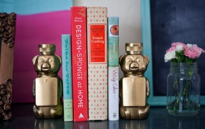 honey bear bookends