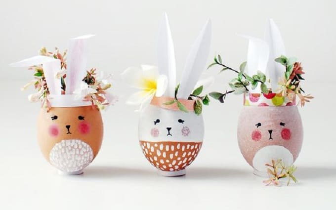 mini easter egg vases